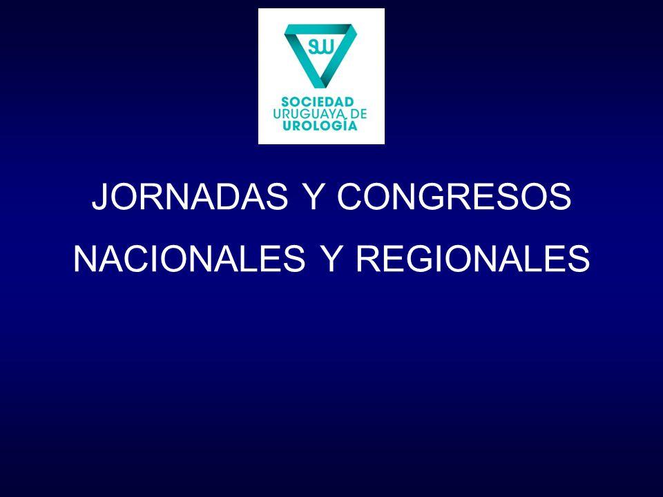 JORNADAS Y CONGRESOS NACIONALES Y REGIONALES
