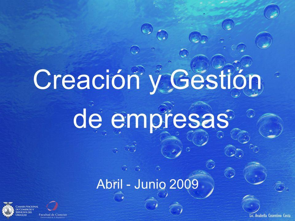 Creación y Gestión de empresas Abril - Junio 2009