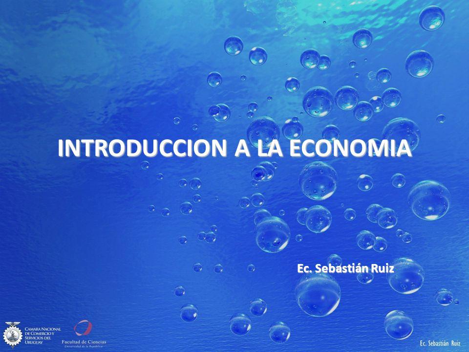 INTRODUCCION A LA ECONOMIA Ec. Sebastián Ruiz