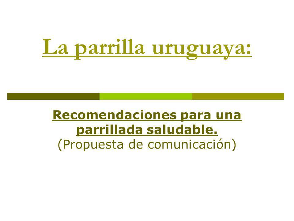 La parrilla uruguaya: Recomendaciones para una parrillada saludable. (Propuesta de comunicación)