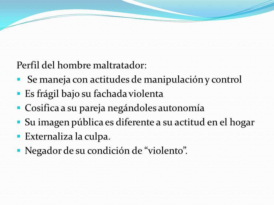 Factores que predisponen a la V.D.: Historia de abuso infantil Padre autoritario y/o maltratador de la madre.