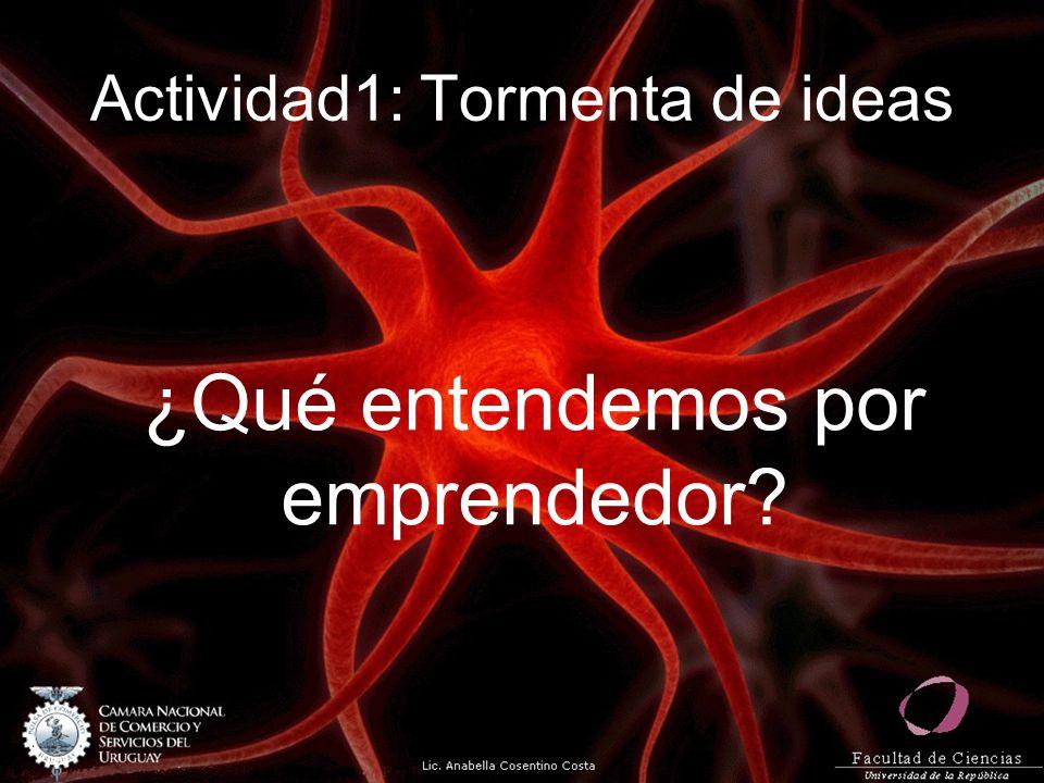 Actividad1: Tormenta de ideas ¿Qué entendemos por emprendedor?
