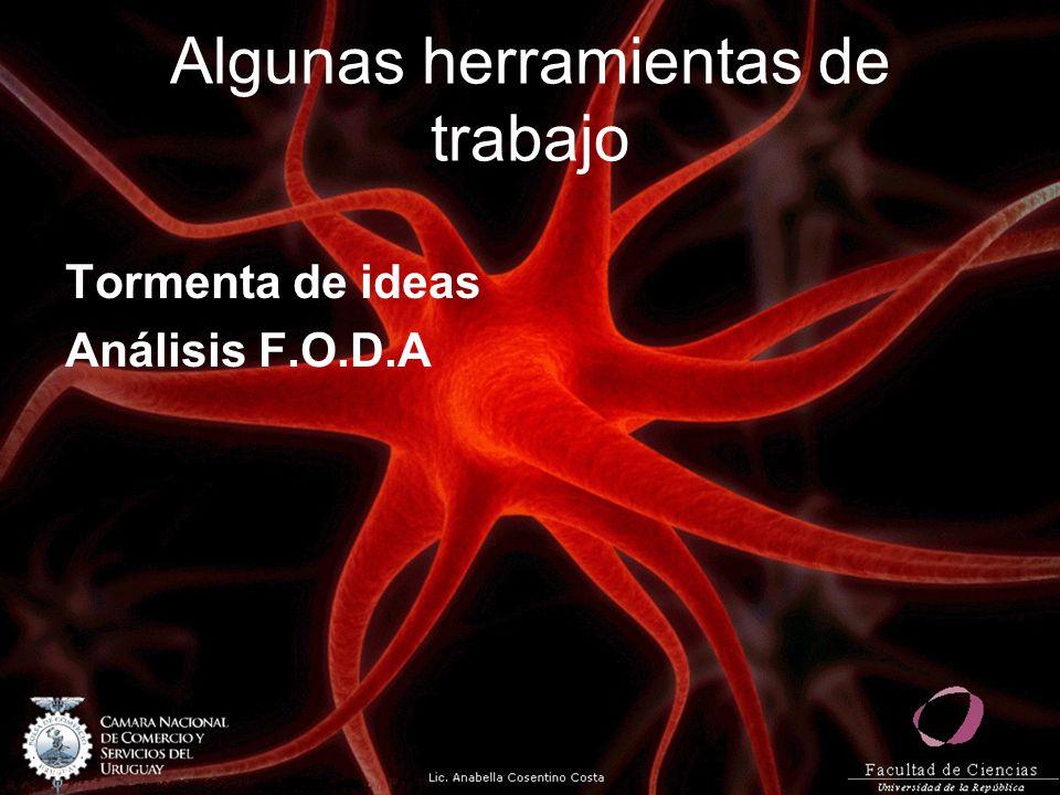 Algunas herramientas de trabajo Tormenta de ideas Análisis F.O.D.A