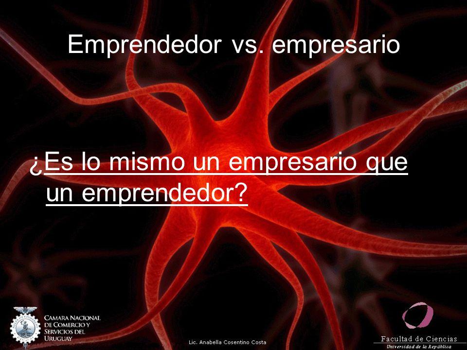 Emprendedor vs. empresario ¿Es lo mismo un empresario que un emprendedor?