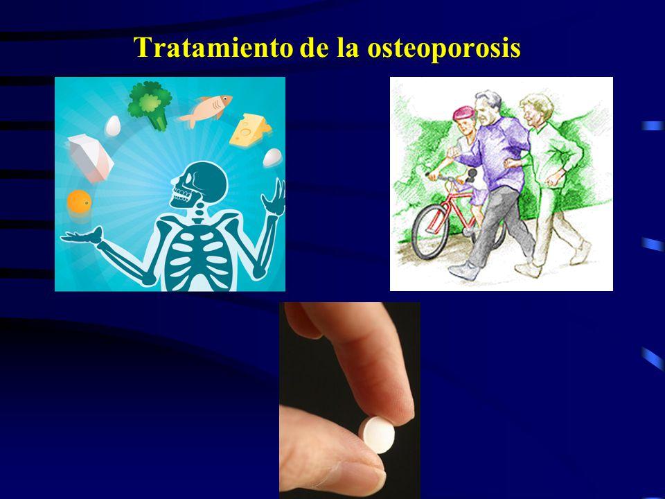 National Osteoporosis Foundation (NOF) Guidelines Sugiere medir la DMO en: Mujeres mayores 65 años Mujeres Postmenopausal menores 65 años que presente
