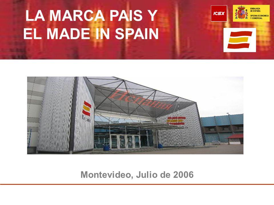 La Marca País y el Made In Spain INDICE I.