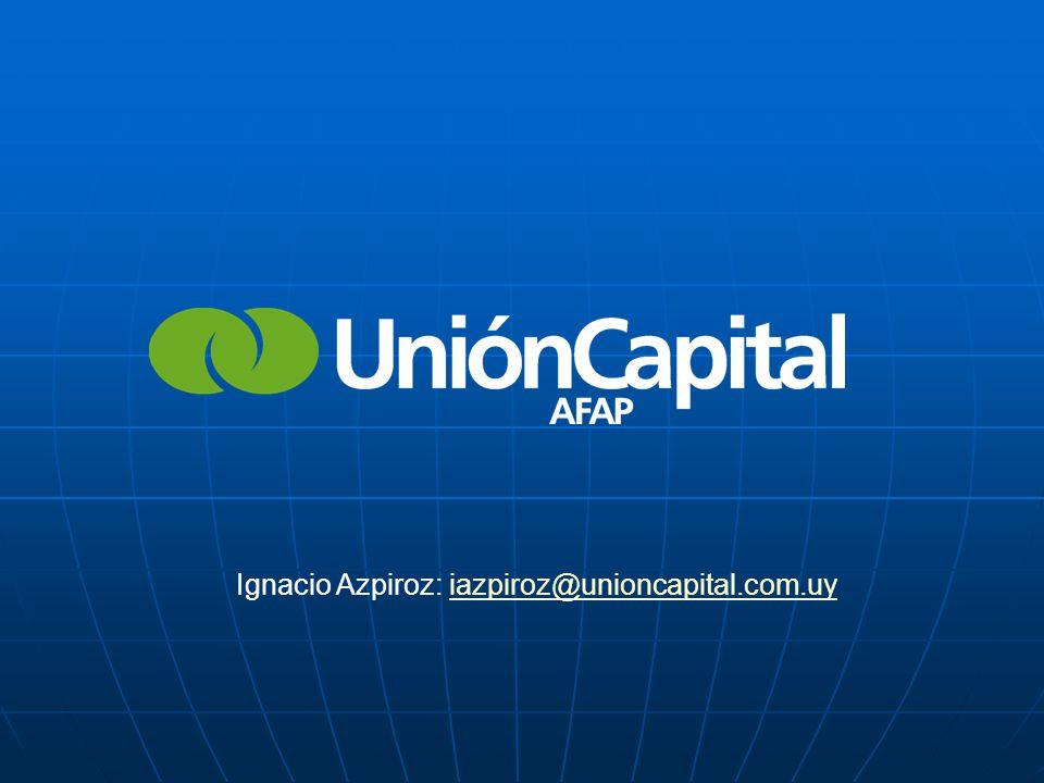 Ignacio Azpiroz: iazpiroz@unioncapital.com.uyiazpiroz@unioncapital.com.uy