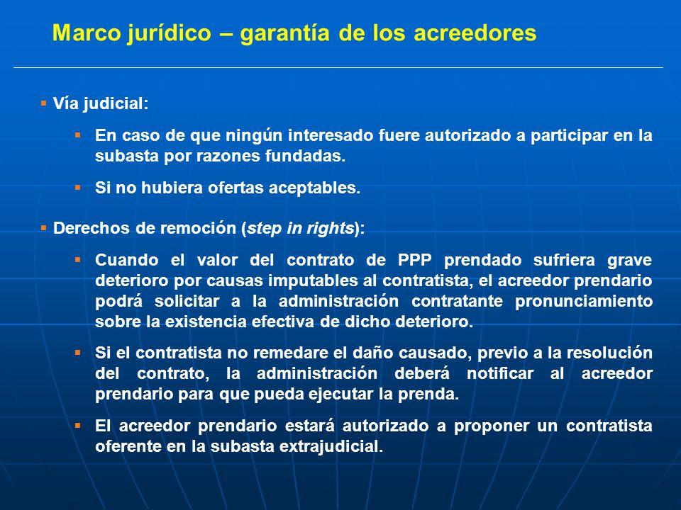 Vía judicial: En caso de que ningún interesado fuere autorizado a participar en la subasta por razones fundadas.