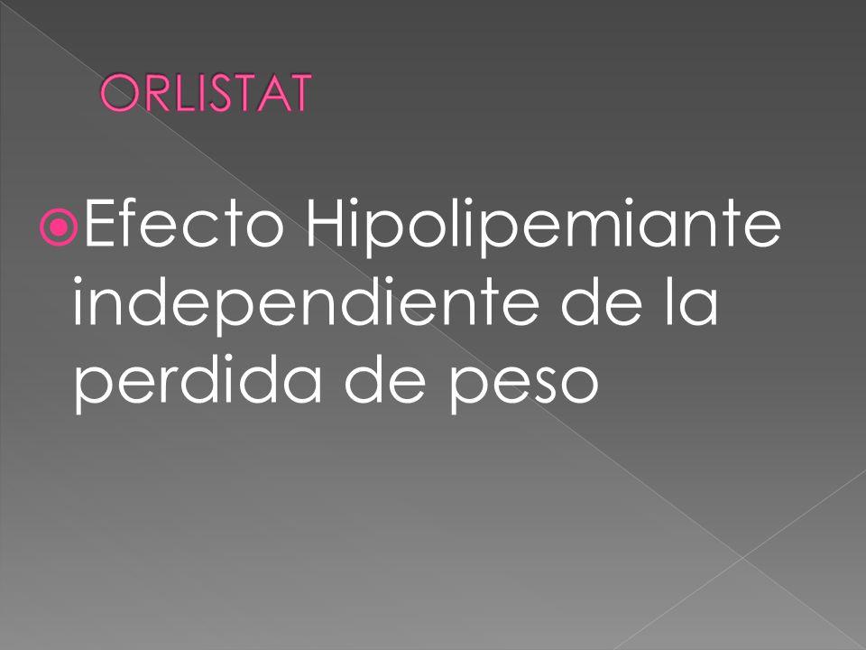 Efecto Hipolipemiante independiente de la perdida de peso