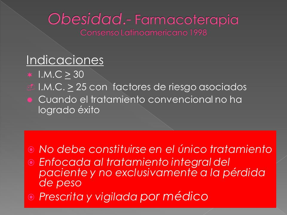 Indicaciones ¬ I.M.C > 30  I.M.C.