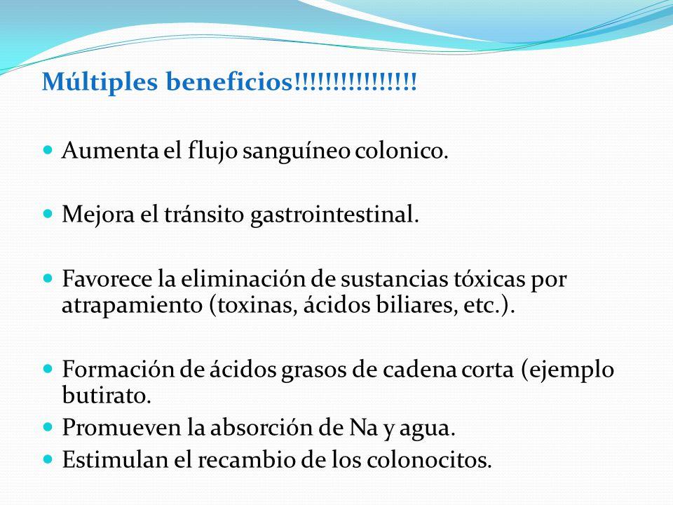 Múltiples beneficios!!!!!!!!!!!!!!!! Aumenta el flujo sanguíneo colonico. Mejora el tránsito gastrointestinal. Favorece la eliminación de sustancias t