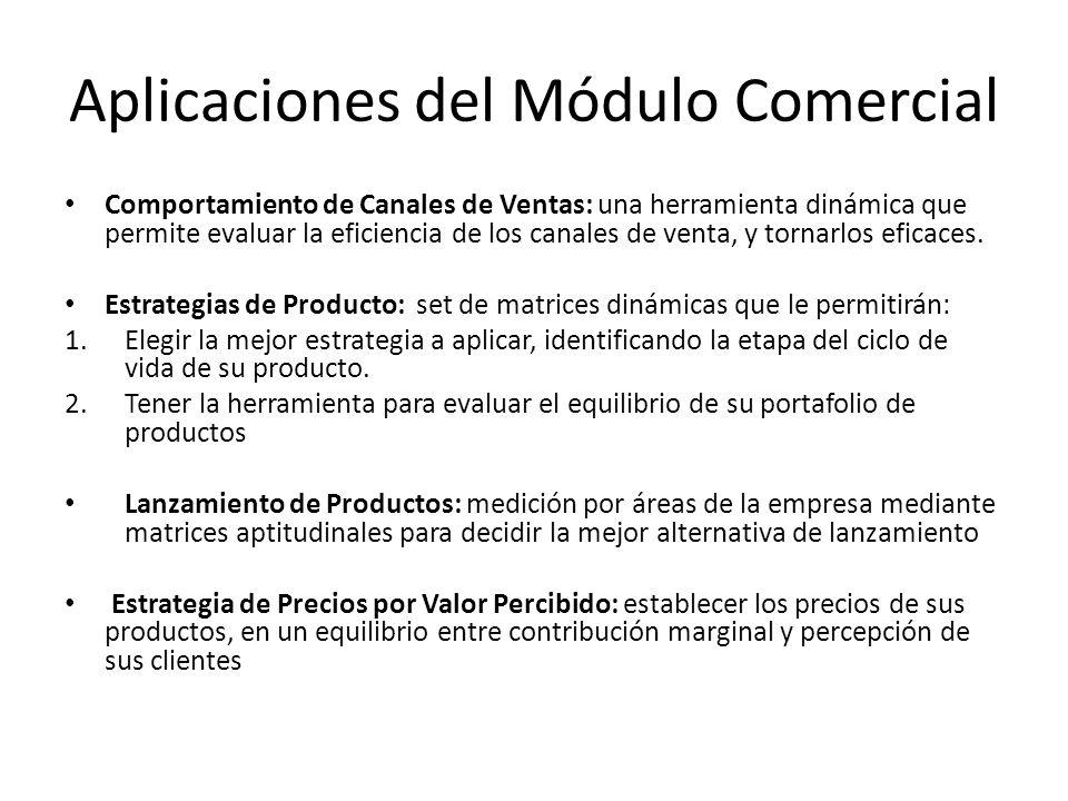 Aplicaciones del Módulo Comercial Comportamiento de Canales de Ventas: una herramienta dinámica que permite evaluar la eficiencia de los canales de ve