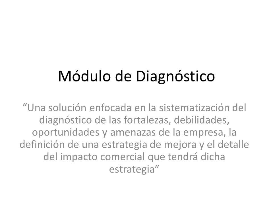 Módulo de Diagnóstico Una solución enfocada en la sistematización del diagnóstico de las fortalezas, debilidades, oportunidades y amenazas de la empre