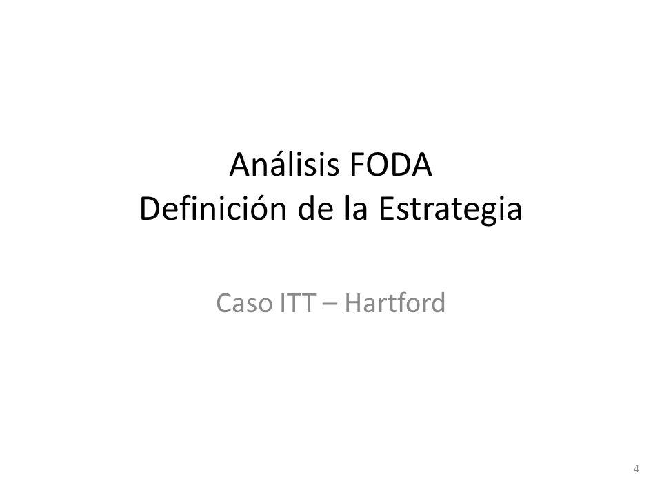 4 Análisis FODA Definición de la Estrategia Caso ITT – Hartford