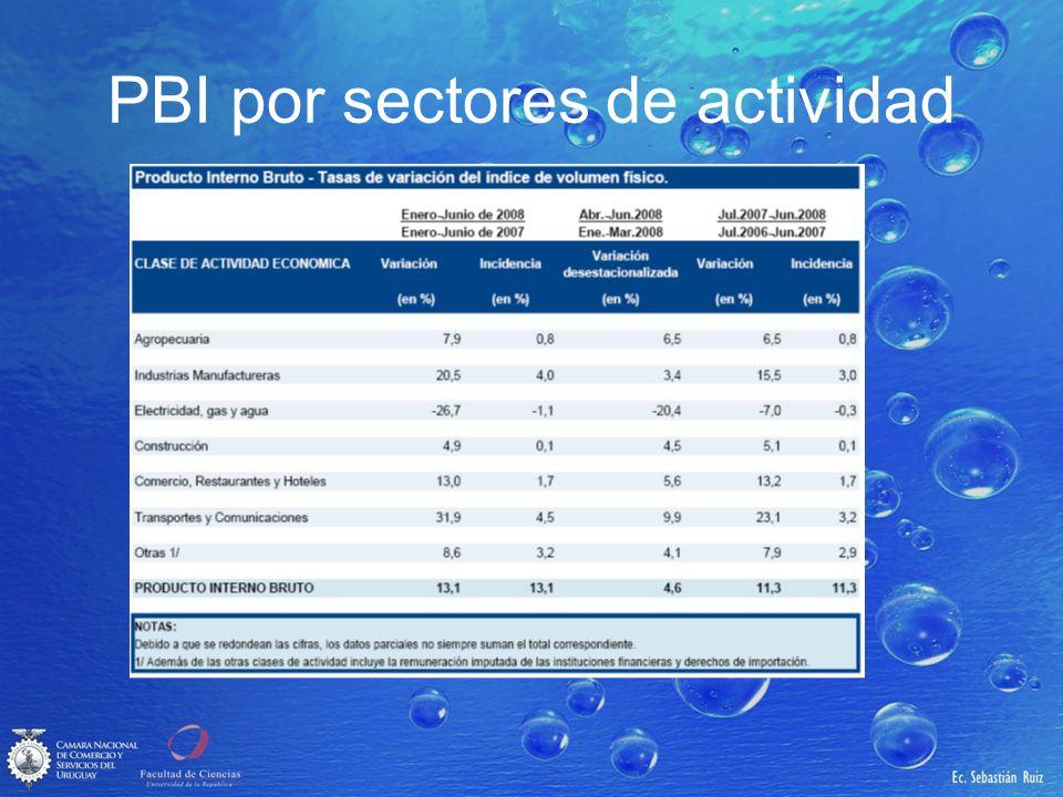 PBI por sectores de actividad