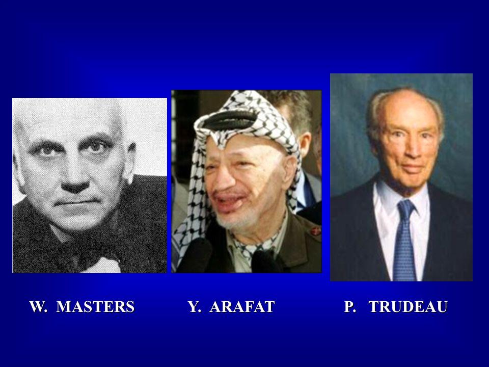 W. MASTERS Y. ARAFAT P. TRUDEAU W. MASTERS Y. ARAFAT P. TRUDEAU