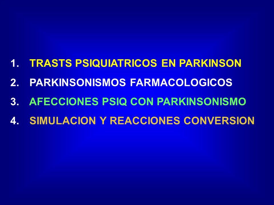 FRENTE A TODO Sd.PARKINSONIANO PLANTEARSE ETIOLOGÍA FARMACOLÓGICA P.
