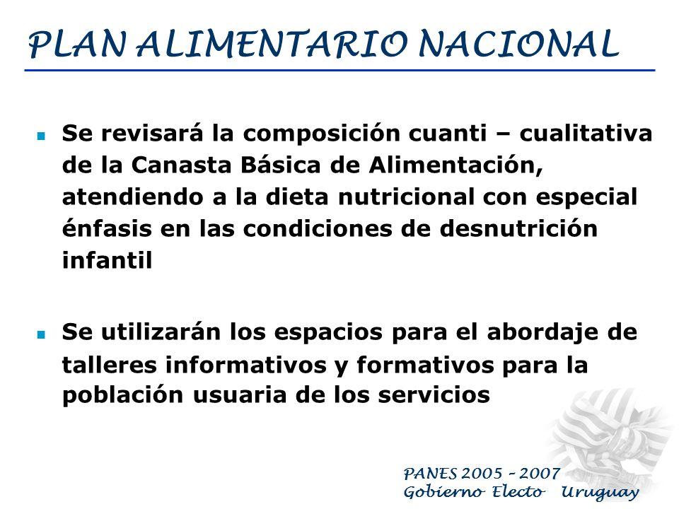 PANES 2005 – 2007 Gobierno Electo Uruguay ASENTAMIENTOS, TUGURIOS Y PENSIONES Desarrollar Programas Territoriales Focalizados que generen infraestructura y servicios en barrios y asentamientos irregulares; previendo en algunos casos el realojamiento.