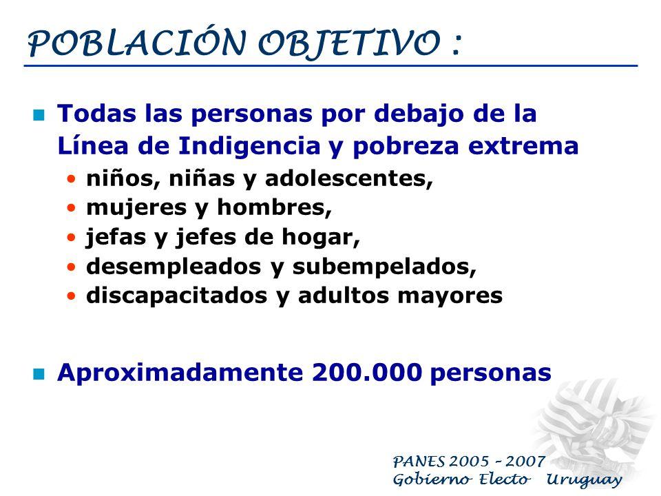 PANES 2005 – 2007 Gobierno Electo Uruguay Porque las políticas sociales deben generar oportunidades para el pleno ejercicio de los derechos sociales, políticos, económicos y culturales