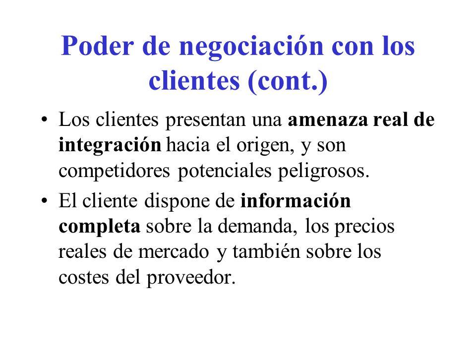 Una empresa puede mejorar su posición competitiva por una política de selección de su clientela.