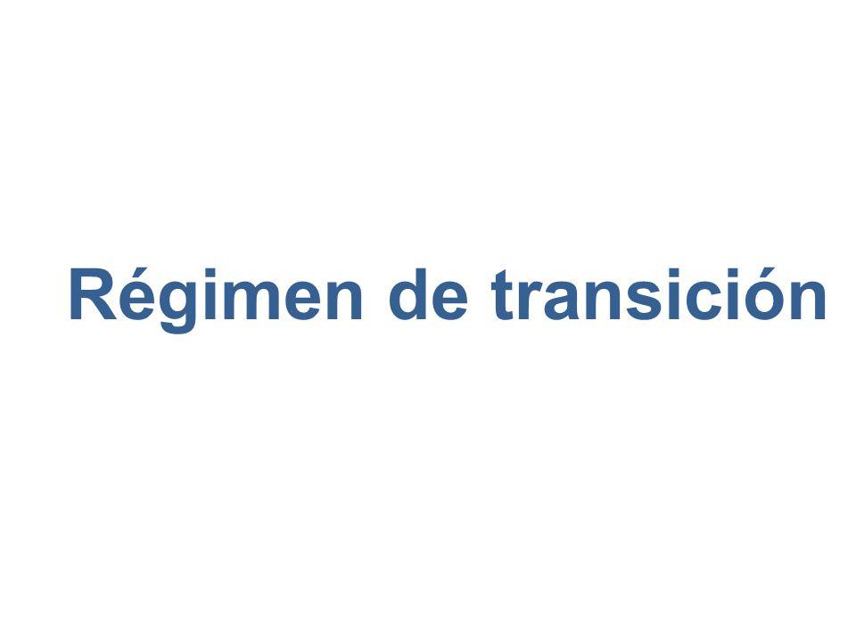 Régimen de transición