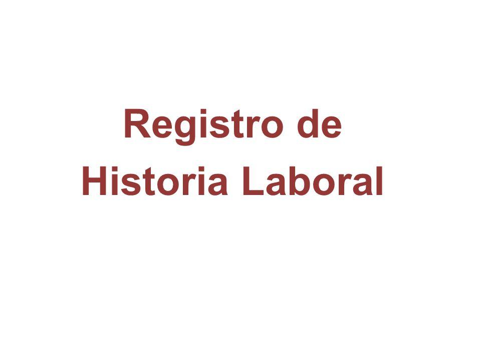Registro de Historia Laboral
