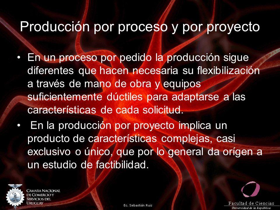 Clasificación según el tipo de producto Según el tipo de producto el proceso se clasifica en función de los bienes o servicios que se van a producir.