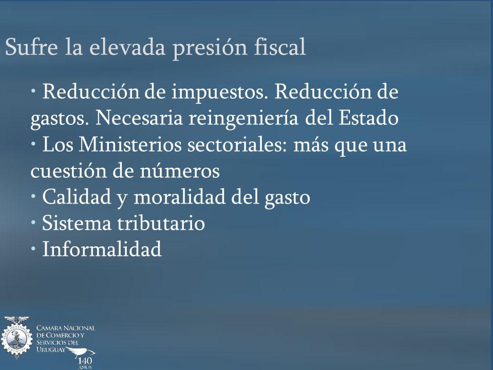 Reducción de impuestos. Reducción de gastos. Necesaria reingeniería del Estado Los Ministerios sectoriales: más que una cuestión de números Calidad y