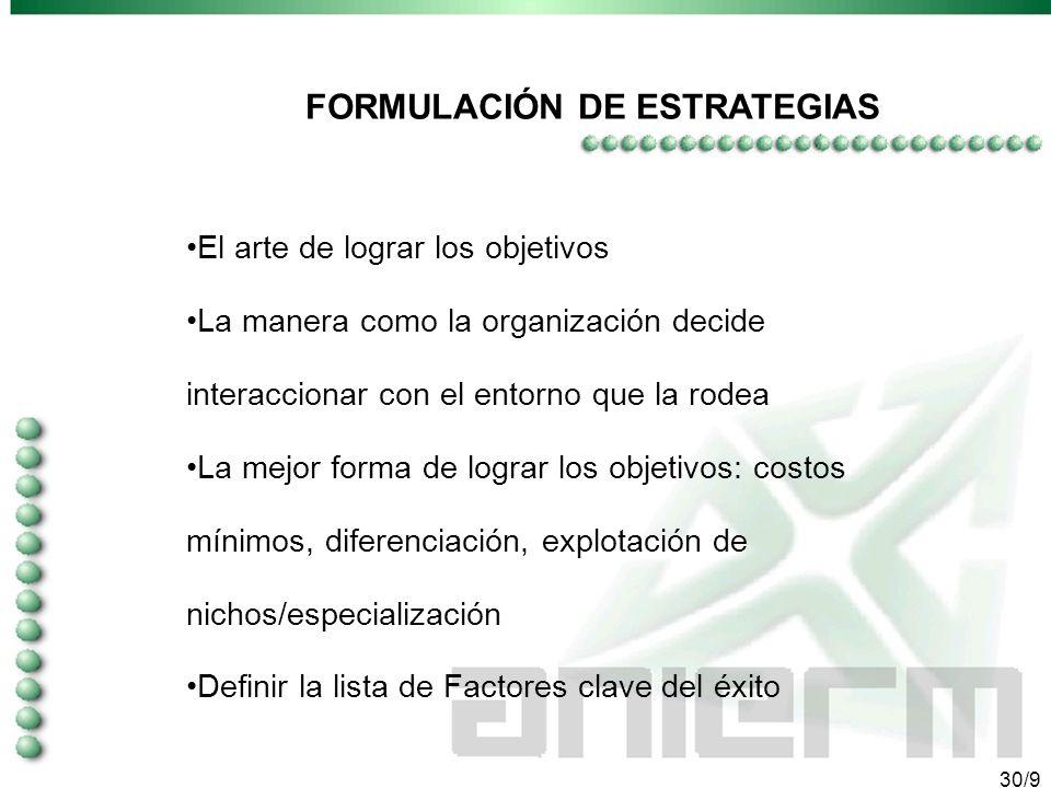 29/9 ANALISIS DE VULNERABILIDAD IDENTIFICAR LOS PILARES: -Necesidad que atiendo -Recursos y activos -Situación de costos -Prestigio y calidad -Posicio