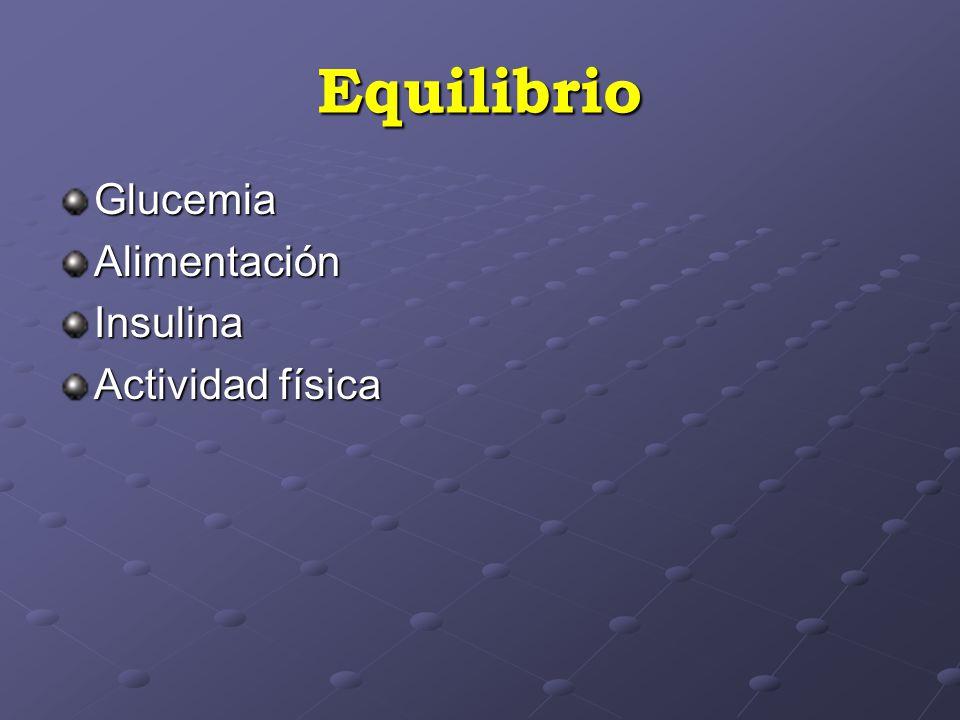 Equilibrio GlucemiaAlimentaciónInsulina Actividad física