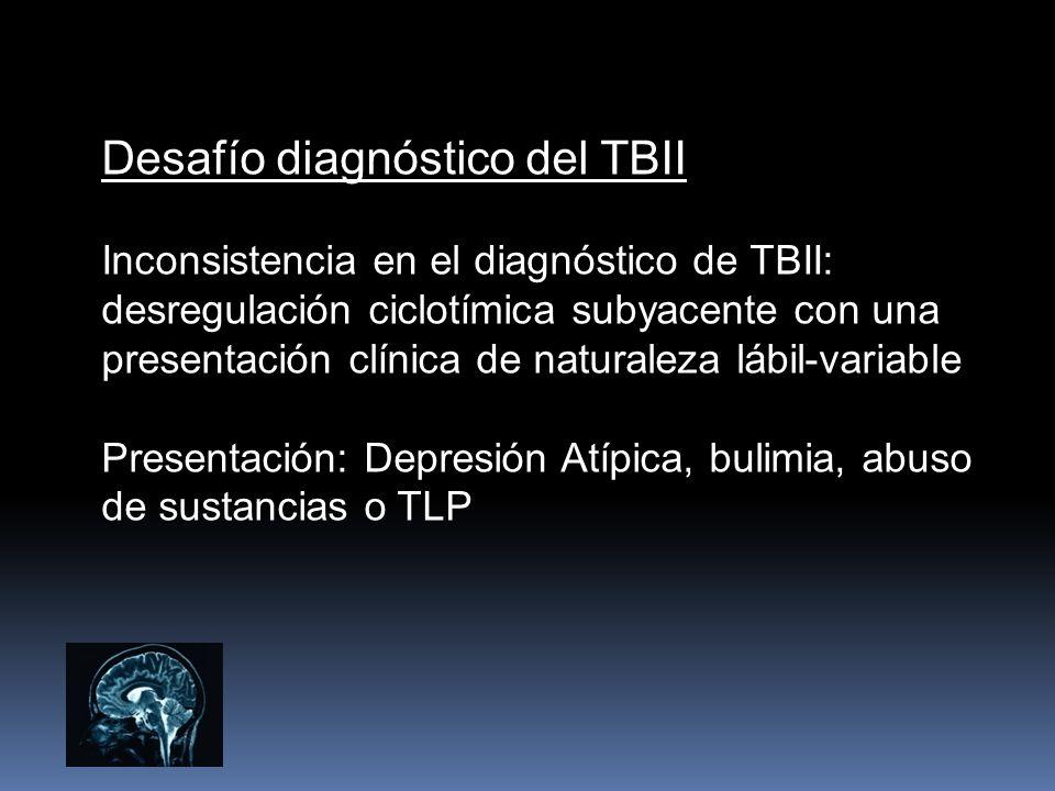 Desafío diagnóstico del TBII Inconsistencia en el diagnóstico de TBII: desregulación ciclotímica subyacente con una presentación clínica de naturaleza
