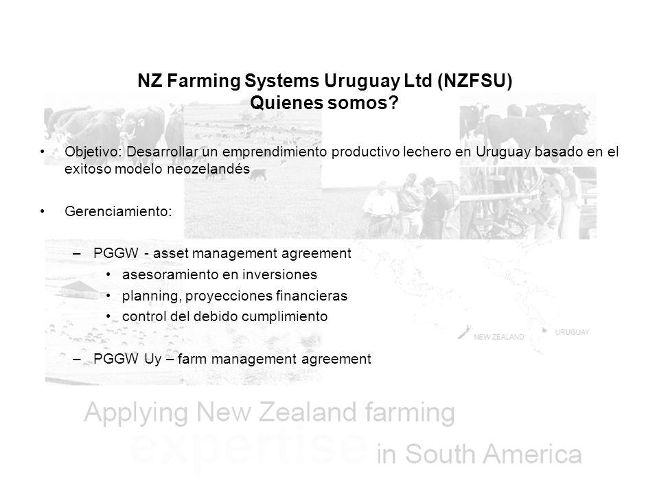 NZ Farming Systems Uruguay Ltd (NZFSU) Quienes somos.