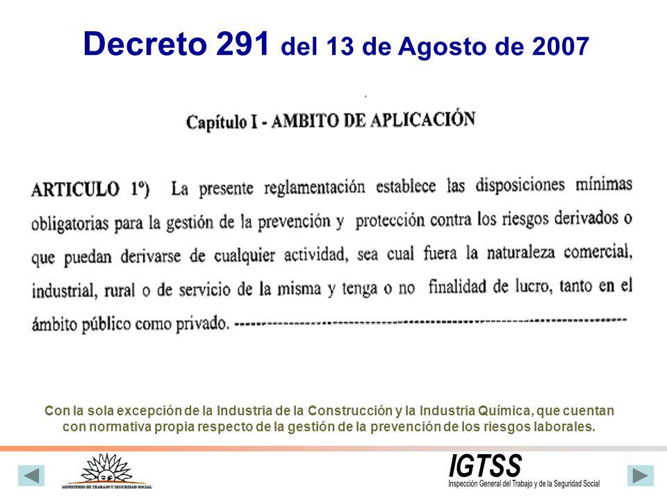 Reglamentario del Convenio Internacional Nº 155 Refiere a la obligación de definir y poner en marcha una política nacional coherente, en materia de Seguridad y Salud en el Trabajo.