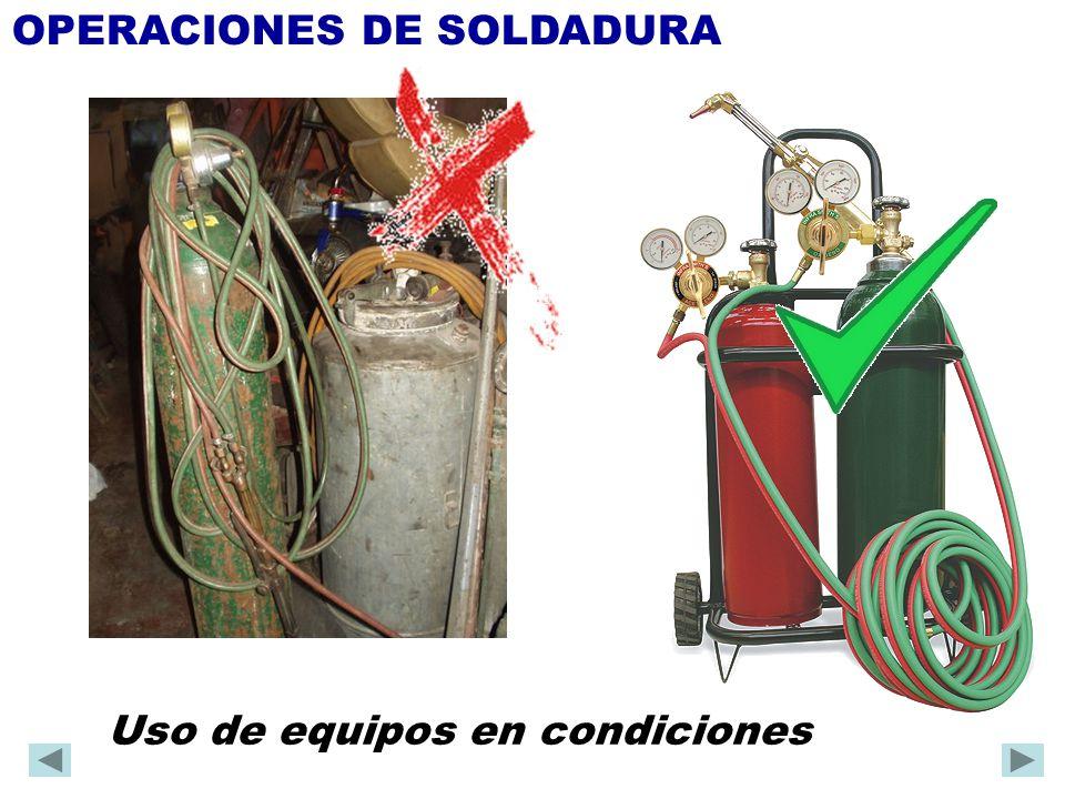 1º.Actuar sobre la fuente (extracción del contaminante) OPERACIONES DE SOLDADURA 2º.
