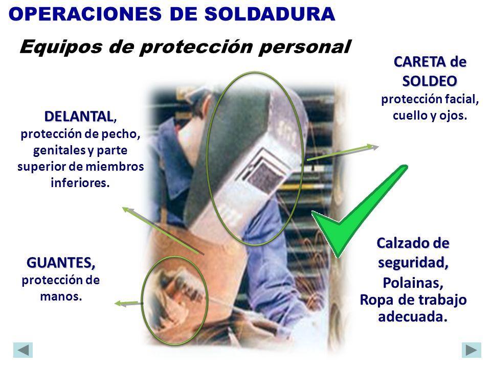 Calzado de seguridad, Polainas, Ropa de trabajo adecuada. DELANTAL DELANTAL, protección de pecho, genitales y parte superior de miembros inferiores. G