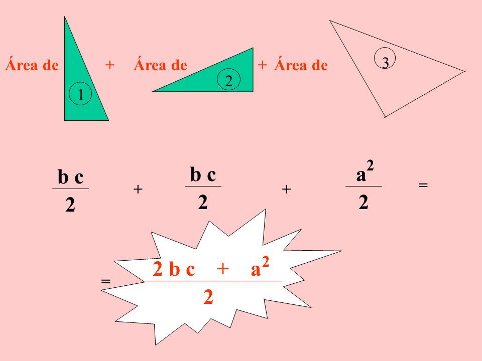 1er. Procedimiento El Trapecio está formado por la unión de tres triángulos 1 2 3 Hallamos sus áreas y luego efectuamos su adición. La suma de ellas e