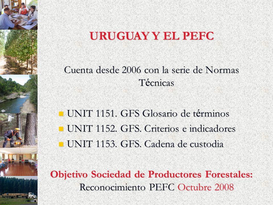 URUGUAY Y EL PEFC Cuenta desde 2006 con la serie de Normas T é cnicas UNIT 1151. GFS Glosario de t é rminos UNIT 1151. GFS Glosario de t é rminos UNIT
