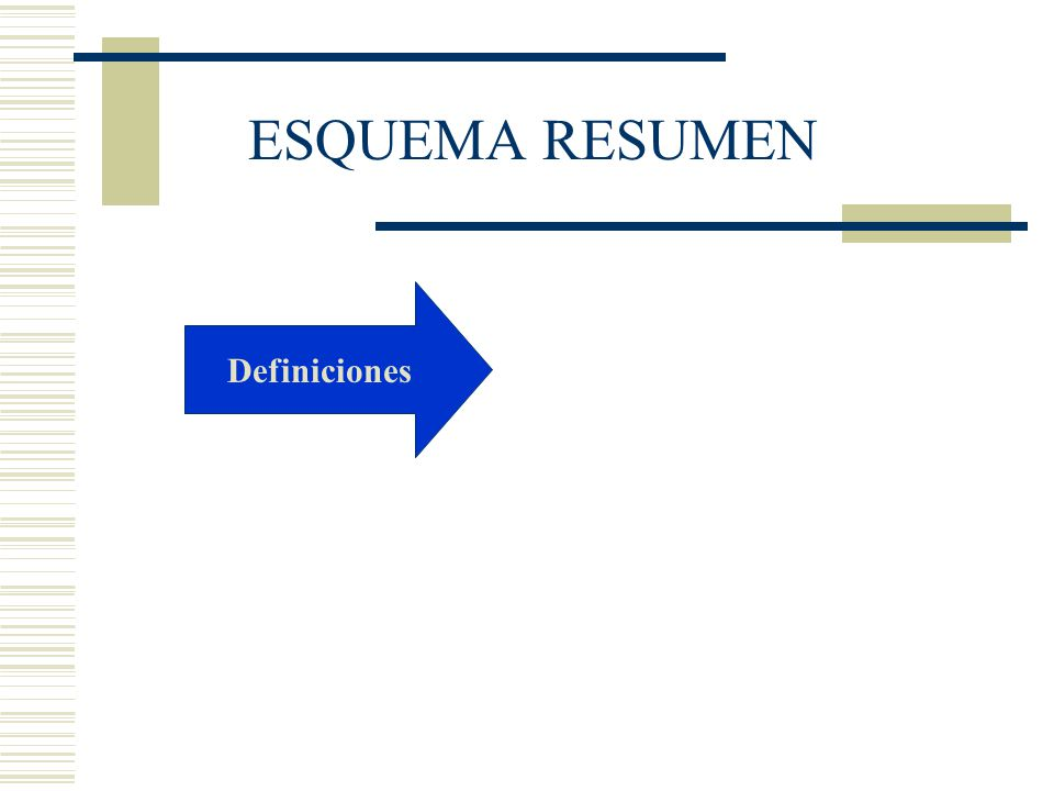 Definiciones ESQUEMA RESUMEN