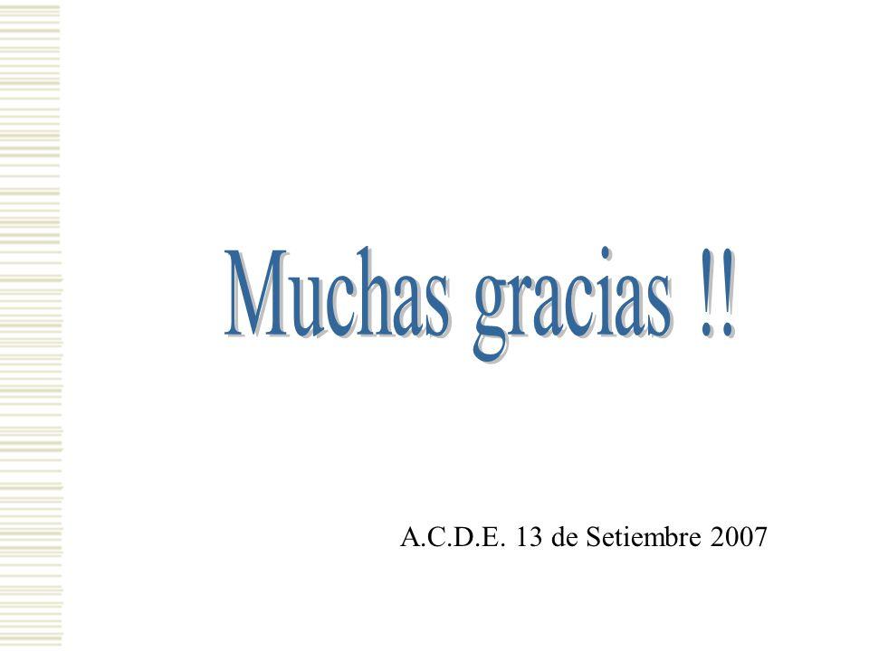 A.C.D.E. 13 de Setiembre 2007