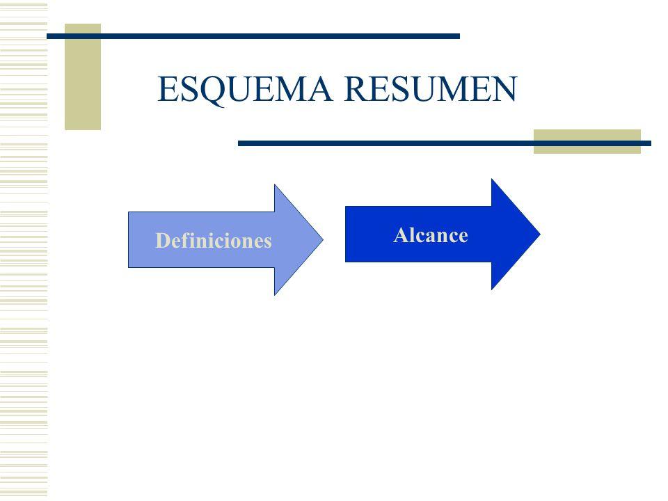 Definiciones Alcance ESQUEMA RESUMEN