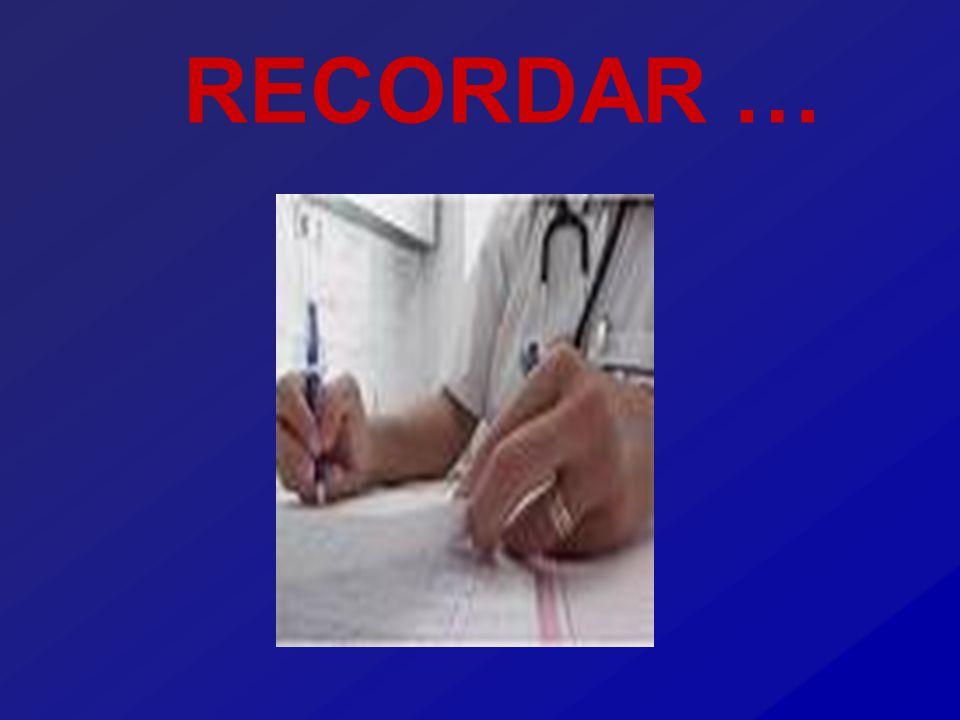 RECORDAR …