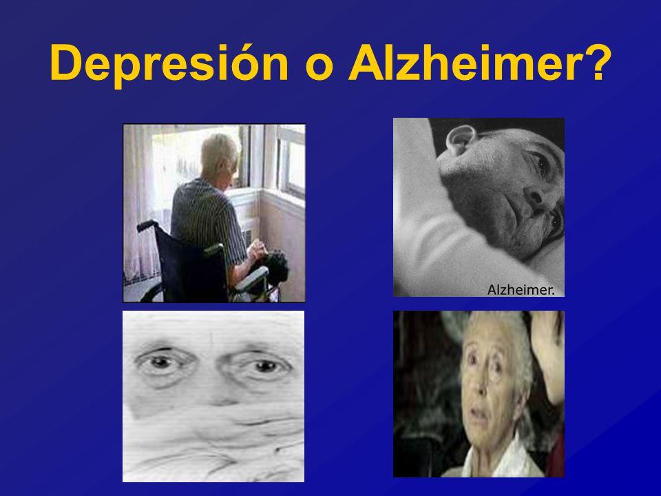 Depresión o Alzheimer?
