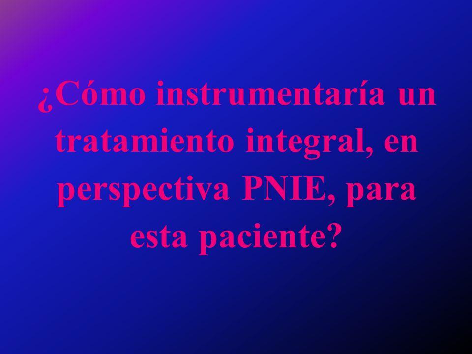 ¿Cómo instrumentaría un tratamiento integral, en perspectiva PNIE, para esta paciente?
