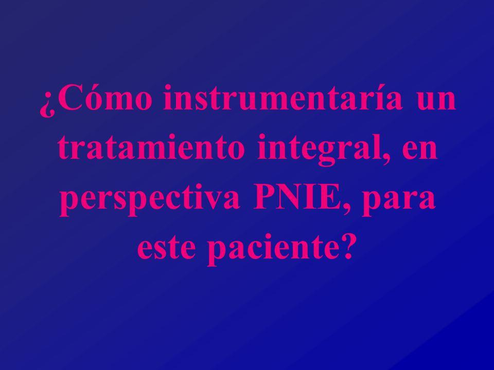 ¿Cómo instrumentaría un tratamiento integral, en perspectiva PNIE, para este paciente?