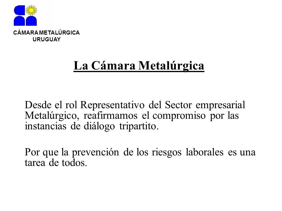 CÁMARA METALÚRGICA URUGUAY Desde el rol Representativo del Sector empresarial Metalúrgico, reafirmamos el compromiso por las instancias de diálogo tri