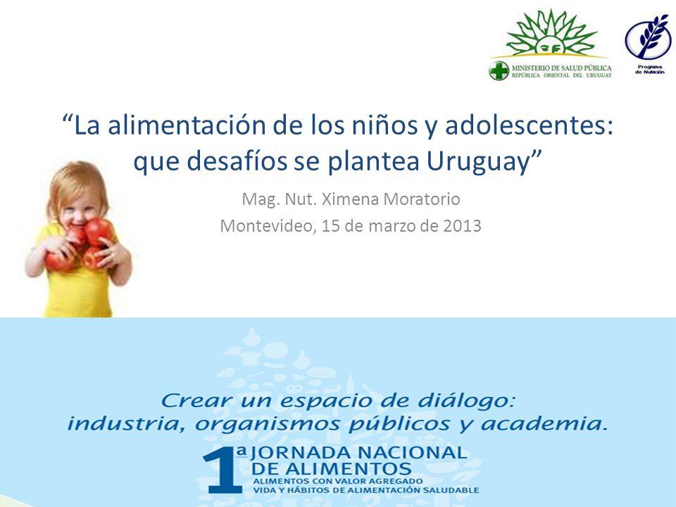 Metas nutricionales para la población uruguaya.