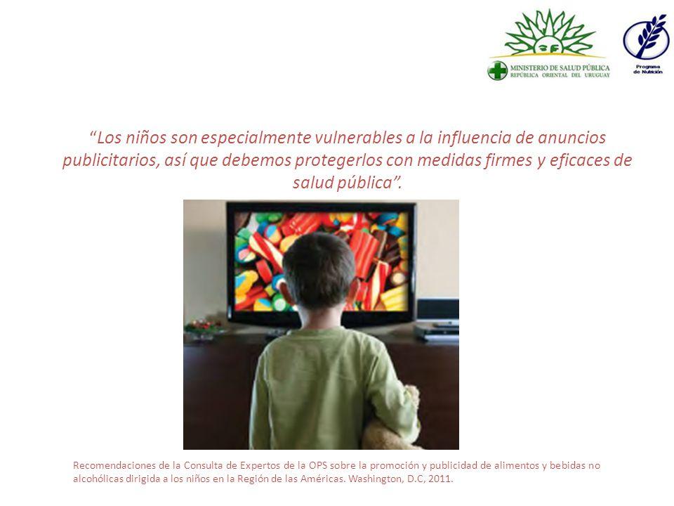 Los niños son especialmente vulnerables a la influencia de anuncios publicitarios, así que debemos protegerlos con medidas firmes y eficaces de salud pública.