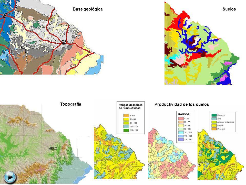 Base geológica Topografía Suelos Productividad de los suelos
