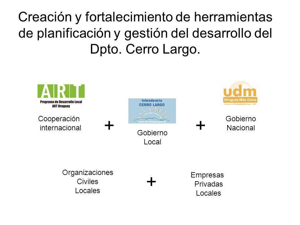 Creación y fortalecimiento de herramientas de planificación y gestión del desarrollo del Dpto. Cerro Largo. Cooperación internacional Gobierno Local G