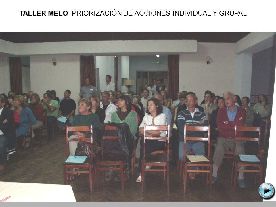 TALLER MELO TALLER MELO PRIORIZACIÓN DE ACCIONES INDIVIDUAL Y GRUPAL